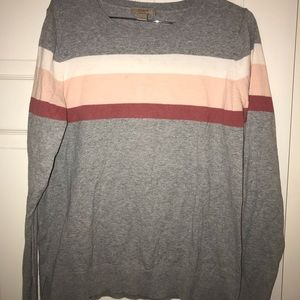 Grey & Pink Sweater